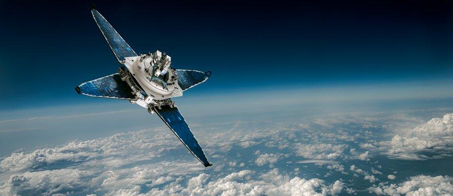 space-satellite-over-the-planet-earth-8WHM6BG.jpg